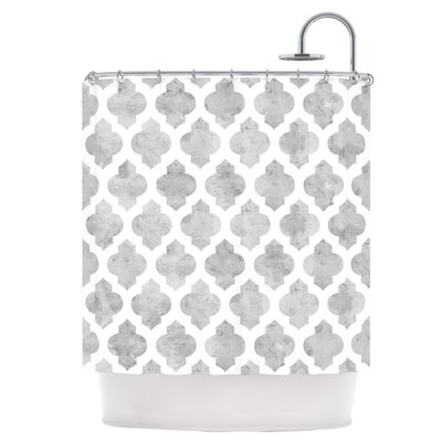 Gray Moroccan Shower Curtain