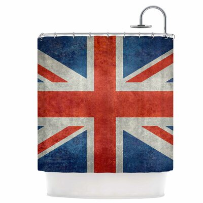 UK Union Jack Flag Shower Curtain