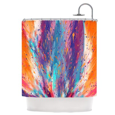 Colorful Fire Shower Curtain