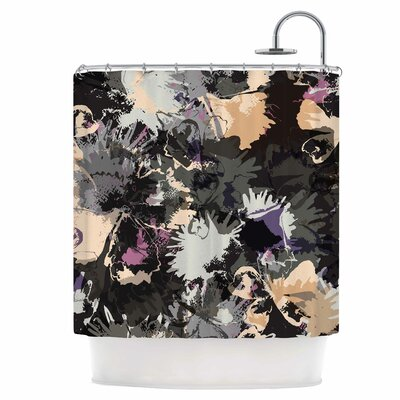 Punk Floral Shower Curtain
