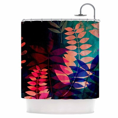 Dark Jungle Shower Curtain