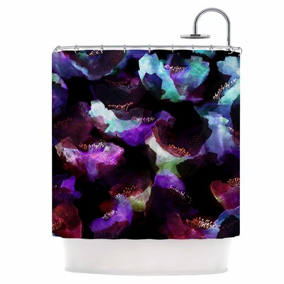 Watercolour Poppy Shower Curtain