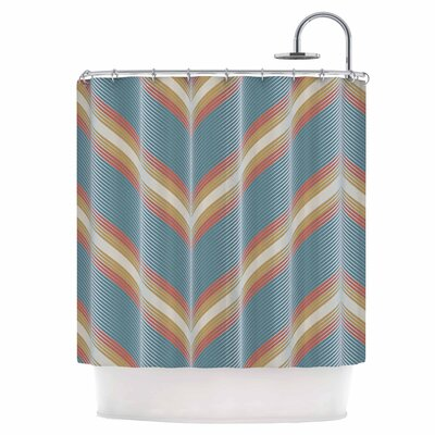 Wavy Chevron Shower Curtain
