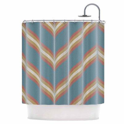 Wavy Chevron Shower Curtain