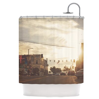 Winter in Venice Shower Curtain