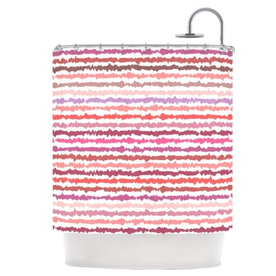 Blush Stripes Shower Curtain