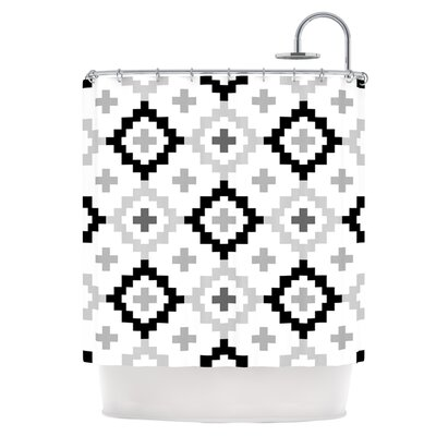 Black White Shower Curtain