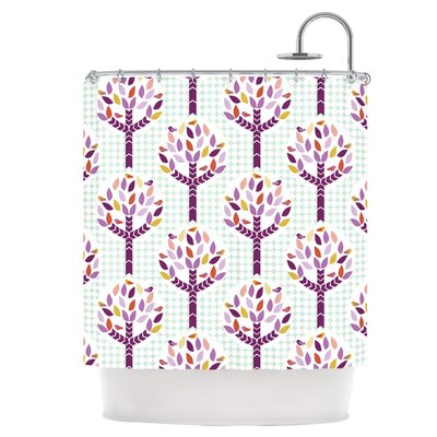 Orchid Spring Tree Shower Curtain