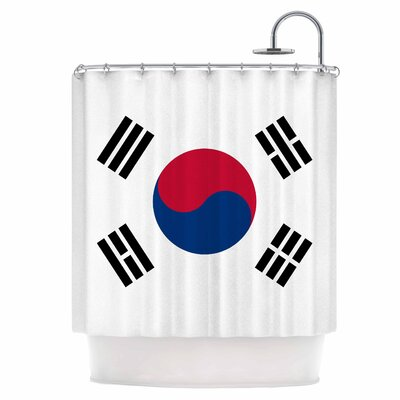 Flag of Korea Shower Curtain