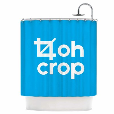 Oh Crop Shower Curtain