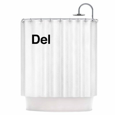 Delete Shower Curtain