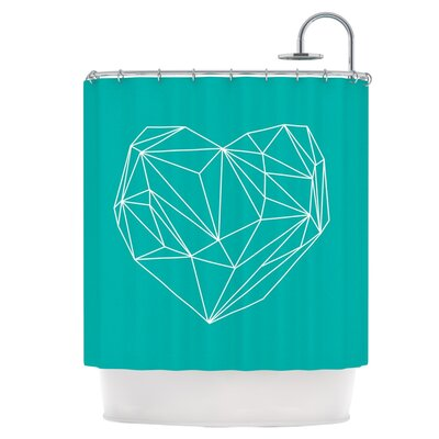 Heart Graphic Shower Curtain