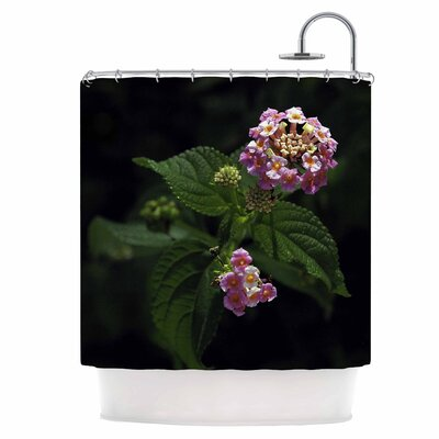 Lantana Flower Shower Curtain