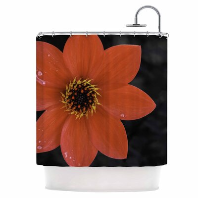 Wet Flower Petals Shower Curtain