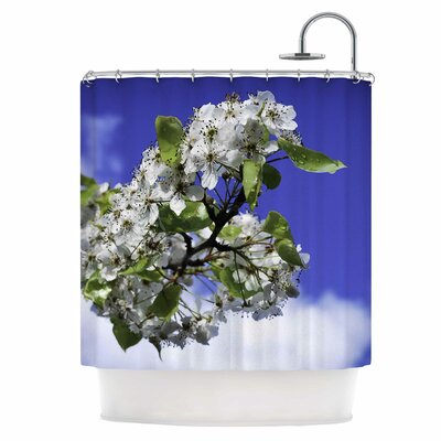 Cherry Blossoms and Sky Shower Curtain