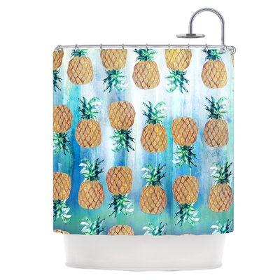 Pineapple Beach Shower Curtain