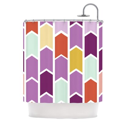 Orchid Geometric Chevron Shower Curtain