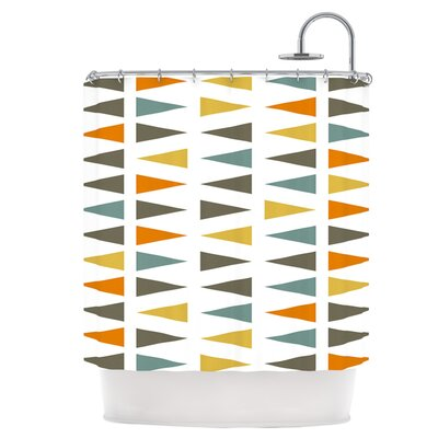 Stacked Geo Shower Curtain