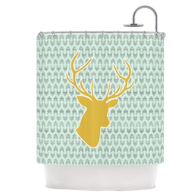 Golden Deer Shower Curtain