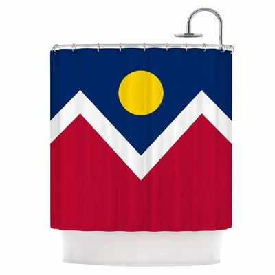 Denver Colorado City Flag Shower Curtain