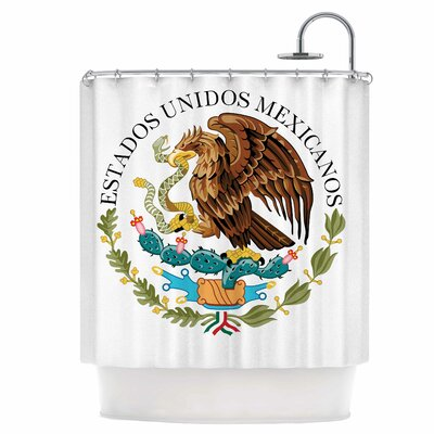 Mexico Emblem Shower Curtain