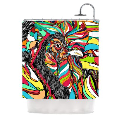 Tropical Cock Shower Curtain