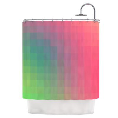 Gradient Print Shower Curtain
