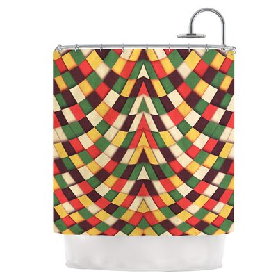 Rastafarian Tile Shower Curtain
