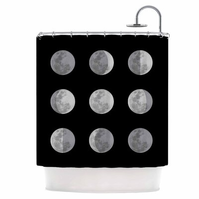 Lunar OCD Shower Curtain