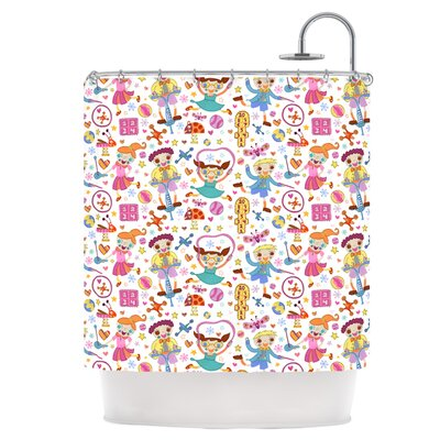 Vintage Playground IIII Shower Curtain