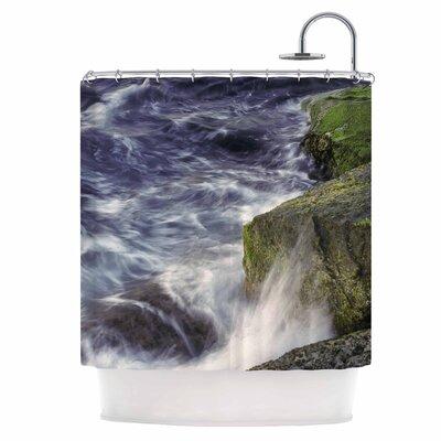 Wave Against La Jolla Rocks Shower Curtain