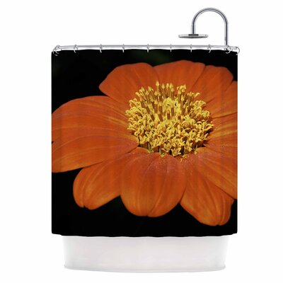 Wide Flower Shower Curtain