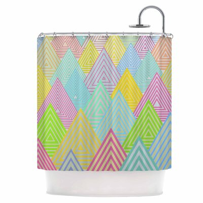 Pastel Mountains Shower Curtain