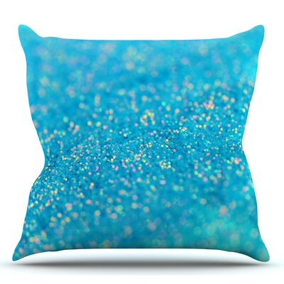 Mermaid Sparkles by Beth Engel Outdoor Throw Pillow