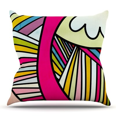 Fake Colors by Danny Ivan Outdoor Throw Pillow