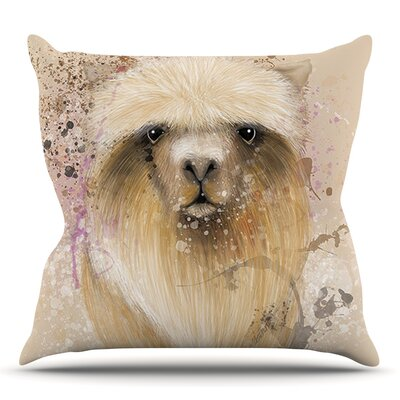 Llama Me by Geordanna Cordero-Fields Outdoor Throw Pillow