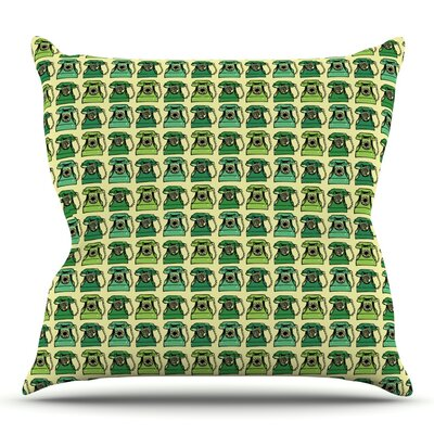 Vintage Telephone by Holly Helgeson Outdoor Throw Pillow