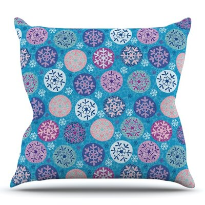 Floral Winter by Julia Grifol Outdoor Throw Pillow