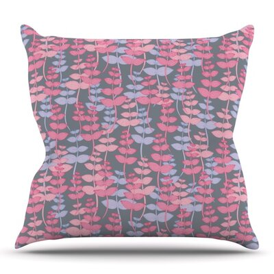 My Leaves Garden by Julia Grifol Outdoor Throw Pillow