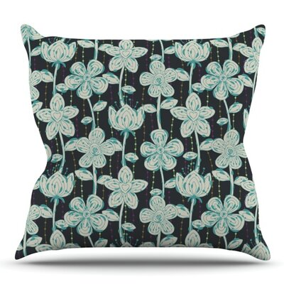 My Spotted Flowers by Julia Grifol Outdoor Throw Pillow