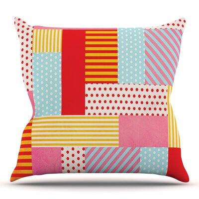Geometric Pop by Louise Machado Outdoor Throw Pillow