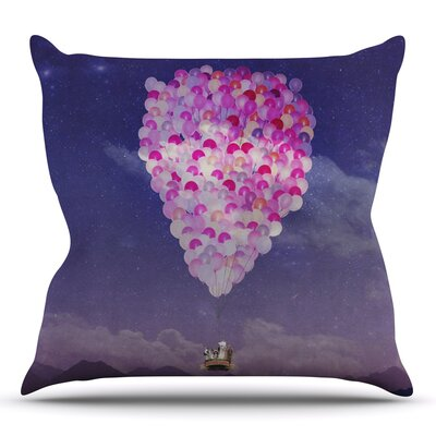 Never Stop Exploring IV by Monika Strigel Outdoor Throw Pillow