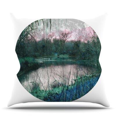 Swamp by Micah Sager Outdoor Throw Pillow