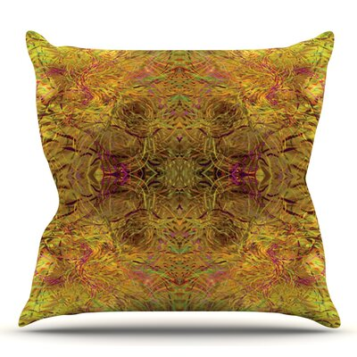 Goldenrod by Nikposium Outdoor Throw Pillow
