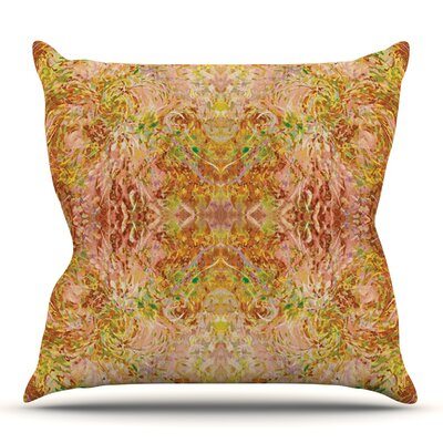Goldenrod II by Nikposium Outdoor Throw Pillow