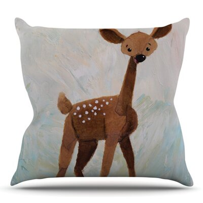 Oh Deer by Rachel Kokko Outdoor Throw Pillow