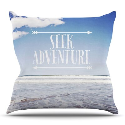 Seek Adventure by Susannah Tucker Outdoor Throw Pillow
