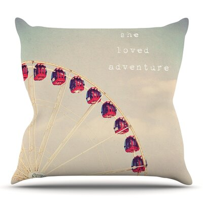 She Loved Adventure by Susannah Tucker Outdoor Throw Pillow