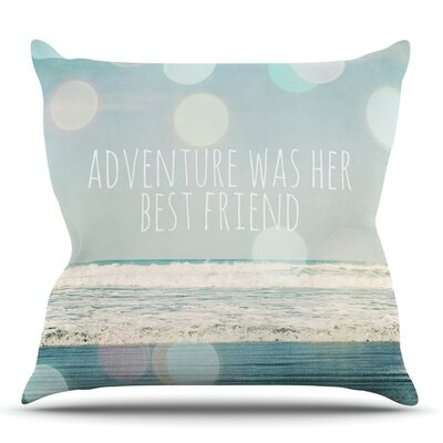 Adventure Was Her Best Friend by Susannah Tucker Outdoor Throw Pillow