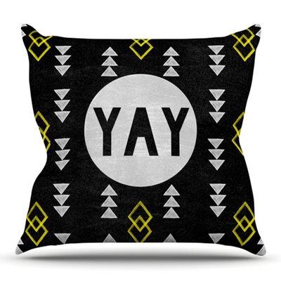 Yay by Skye Zambrana Outdoor Throw Pillow
